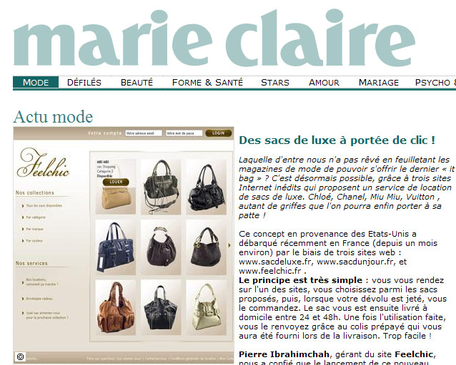 marie claire location sac a main feelchic